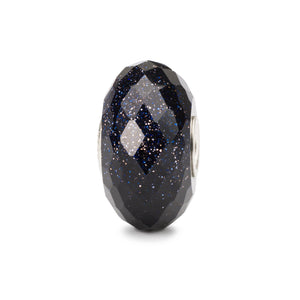 Facettierter Blauer Goldstein | Faceted Blue Goldstone Bead