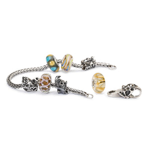 Trollbeads Armband Silber mit Beads aus der Herbst 2018 Kollektion Erlebe Abenteuer | Silver Bracelet with Beads from the Autumn Collection 2018 Adventure Begins