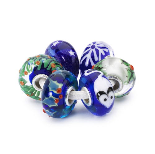 Trollbeads Winterfreude Set | Holiday Bead Kit | Limited Edition | Artikelnummer: TGLBE-00077 | Hauptwerkstoff: Glas | Designer: Tenzin Phuntsok and Kalden Chophel