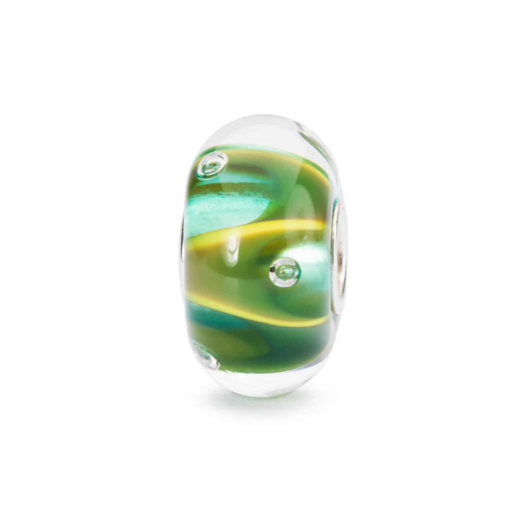 Trollbeads Tautropfen | Drops of Green Bead | Schöpfung der Natur Kollektion Frühling 2019 | Nature Art Collection Spring 2019 | Artikelnummer: TGLBE-10446 | Hauptwerkstoff: Glas | Designer: Tenzin Phuntsok and Kalden Chophel
