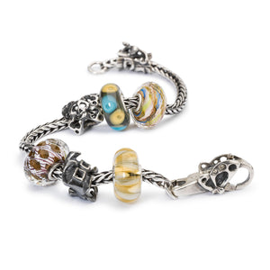 Trollbeads Armband Silber mit Beads aus der Herbst 2018 Kollektion Erlebe Abenteuer | Silver Bracelet with Beads from the 2018 Autumn Collection Adventure Begins