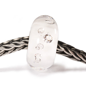 Trollbeads Glas Bead Diamanten Weiss Diamond White TGLBE-00069