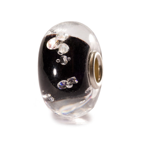 Trollbeads Glas Bead Diamanten Schwarz Diamond Black TGLBE-00070