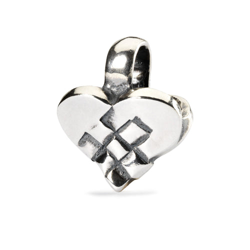 Trollbeads Weihnachtsherz | Christmas Heart Bead | Retired TAGBE-20046