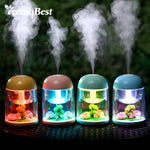 LED Night Light with 180ml Micro Landscape Humidifier USB Air Purifier