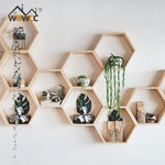 New  Wooden Hexagon Storage Shelf  For Teens,  Kids Lounge Room Chamber Shelf Bookshelf Design