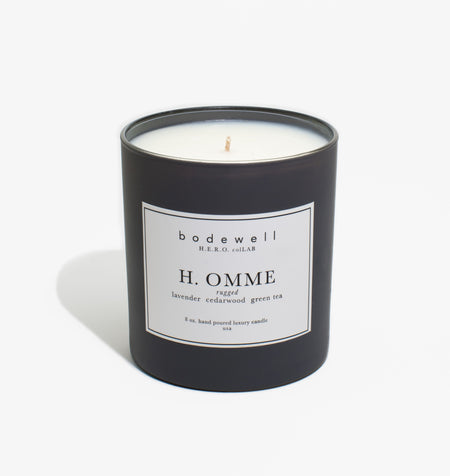 Homme Candle - lavender, cedarwood, green tea - bodewellhome.com