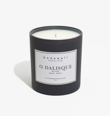 Odalisque Candle - peony, ambre - bodewellhome.com