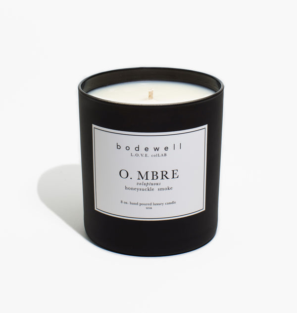 Ombre Candle - honeysuckle, smoke - bodewellhome.com