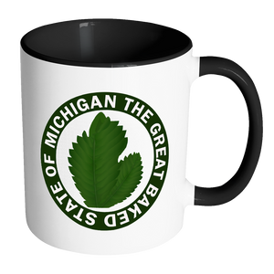 The Great Baked State of Michigan Accent Mug