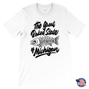 Great Baked State Fish White Tee