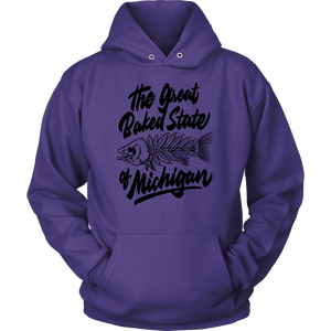 Great Baked State Fish Hoodie - Black Lettering