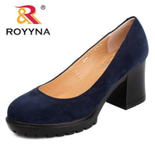 ROYYNA 2017 New Fashion Style Women Pumps Shallow Ladies Platform Shoes Round Toe Square Heels Women Wedding Shoes Wholesales
