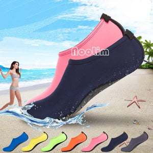 Summer New Chaussure Women Water Shoes Aqua Slippers for Couple/lovers Beach Slip On Waterpark Sandals Sandalias Mujer