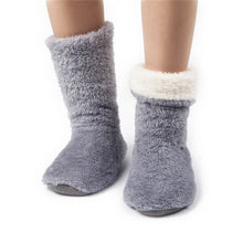 Xinshang Women Plush Home Shoes Slippers Coral Fleece Indoor Floor Sock Indoor Slipper Winter Foot Warmer Soft Bottom Slippers