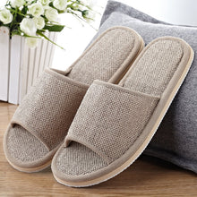 Natural Flax Home Slippers Indoor Floor Shoes Silent Sweat Slippers For Summer Women Sandals Slippers 37-43