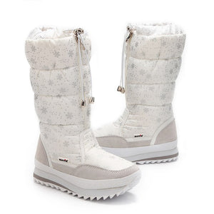 POADISFOO  35-43 Women Boots Plush Warm Snow Boots cotton Winter Boots Waterproof  Snow Botas zipper up DOWN  boot .XZ-05
