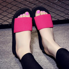 Summer Woman Shoes Platform bath slippers Wedge Beach Flip Flops High Heel Slippers For Women Brand Black EVA Ladies Shoes
