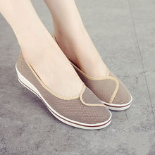 Cuculus Women Loafers Soft Slip On Canvas Flats Shoes Woman Solid Casual Breathable Shoe For Mother Platform Shoes 804
