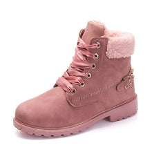 Women boots 2018 hot fashion women ankle boots round toe female warm plus velvet winter snow boots women shoes
