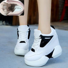 2018 Spring women Fashion Casual Shoes platform shoes sneakers women thick sole shoes Breathable woman wedges shoes white pink