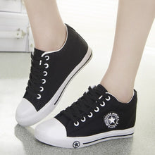 Summer Wedge Sneakers Women Casual Canvas Shoes Female White Basket Femme Star Zapatos Mujer Trainers 5 cm height Ladies Sheos