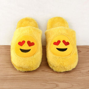 Cute Unisex Winter Man's Plush Slippers Indoor Shoes House Funny Women Slippers Emoji Shoes Warm House Slipper Hot Sale 2019