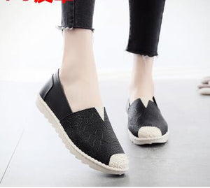 New Arrival Slip On Canvas Antiskid Flat Fisherman Shoes Spring Summer Autumn Women Comfortable Breathable Printing Flats 18072