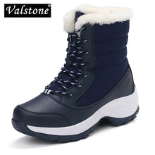 Valstone Women's winter shoes breathable waterproof platform sneakers warm Snow boots anti-skid lace up utra light plus size 41