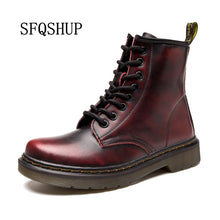 Hot Sale Fashion Styles Spring Fall  Winter Top Quality Genuine Leather Motorcycle Boots Marten Shoes Women Ankle Boots