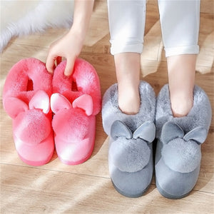 2018 Fashion Women Winter Slippers Plush Casual Cute Warm Home Indoor Slippers Female Ladies Cotton Women Winter Shoes CJ257