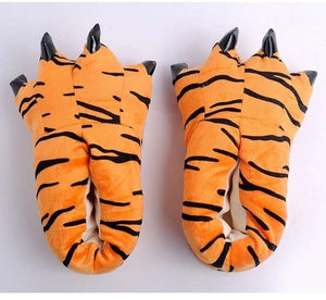 Funny Animal Paw Winter Men & Women Slippers House Slippers Female Monster Claw Children Slippers Cute Plush Home Indoor Shoes