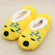 cartoon cute  2019 Indoor Home Slippers Warm Soft  Plush slippers  Comfortable Indoor Fur Slippers Striped Cute Women Shoes
