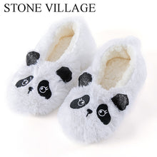 STONE VILLAGE New Arrival Winter Warm Plush Slippers Solid Super Soft Home Slippers Indoor  Butterfly-Knot Women Slippers Shoes
