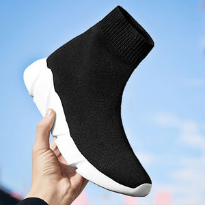 MWY Breathable Ankle Boot Women Socks Shoes Female Sneakers Casual Elasticity Wedge Platform Shoes zapatillas Mujer Soft Sole