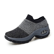 STQ 2019 Spring women sneakers shoes flat slip on platform sneakers for women black breathable mesh sock sneakers shoes 1839