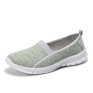 STQ 2019 Spring women sneakers shoes women Breathable Mesh shoes ballet flats ladies slip on flats loafers shoes Plus size 7695