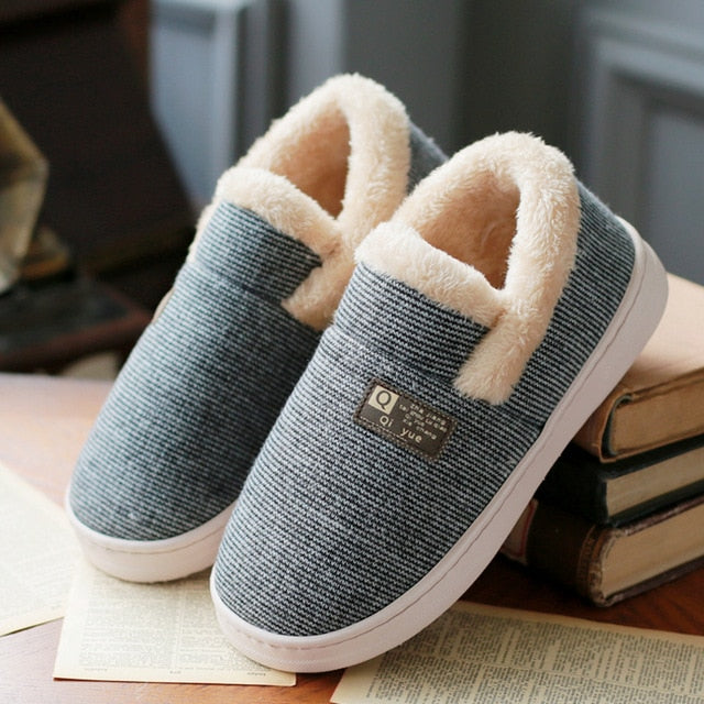 WHOHOLL Women Winter Warm Fur Slippers men Slippers Cotton Sheep Lovers Home Slippers Indoor Plush Size House Shoes Woman