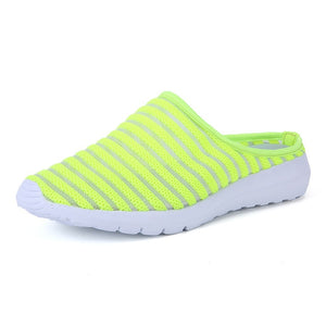 EOFK 2019 New Summer Women Slippers Soft Breathable Mesh Beach shoes Woman White Slides Female Flip Flops Casual Shoes