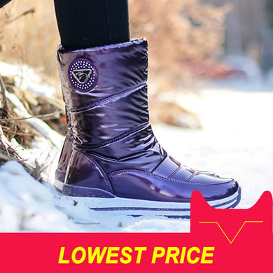 High quality women boots 2018 new arrivals waterproof thick fur winter shoes slip-resistant women platform snow boots