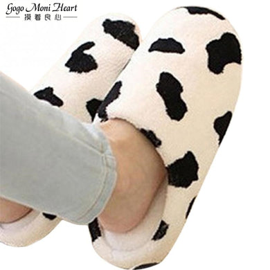 Couple Winter Warm Slippers for Women 2019 Soft Cotton Cow House Indoor Flats Shoes