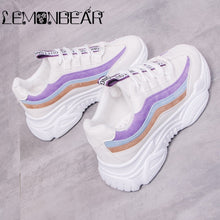 Women Casual Shoes 2018 Autumn Mesh Women Shoes Flats Platform Lace-Up Fashion Breathable Women Sneakers Woman zapatos de mujer