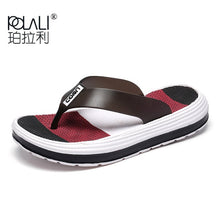 POLALI 2018 Summer Slippers Women Casual Massage Durable Flip Flops Beach Sandals Female Wedge Shoes Striped Lady Room Slippers
