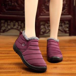Waterproof Female Shoes Winter Unisex Ankle Boots Women's Skid Plus Size Snow Boots Warm Plush Couple Style Cotton Casual Drop