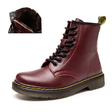 Autumn Winter Platform Boots Women Casual Ankle For Shoes Woman Leather Lace Up Shoe Ladies Snow White Botas Zapatos de Mujer