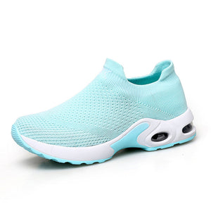 women spring sneakers sock shoes ladies flats platform breath mesh slip on tenis feminino chaussure femme creepers shoes 1839