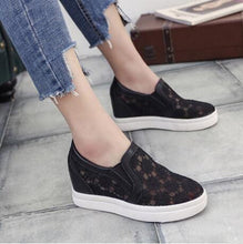 2019 New Fashion Womens Shoes Casual Wedges Mesh Shoe Slip On Lady aa0773