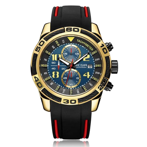 Megir Date Chronograph Watch