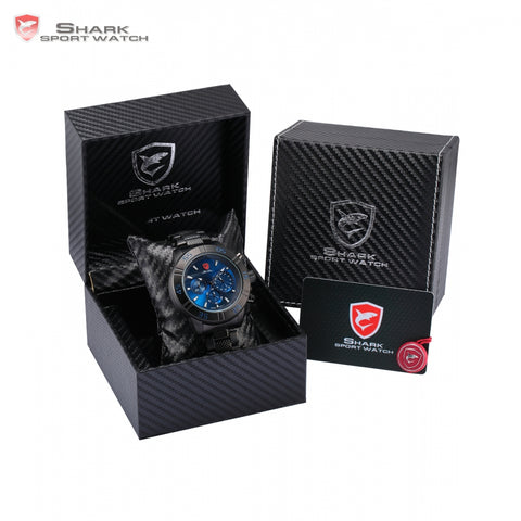 Luxury Leather Gift Box Sandbar Shark Watch 3 Dial