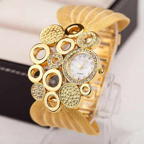 Women's Fashion Watches Luxury Brand Quartz Watches Gold Watches